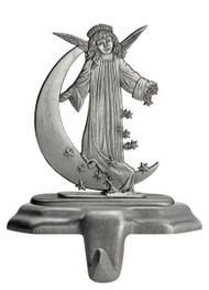 Angel on Moon with Stars - Stocking or Basket Holder