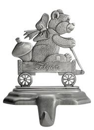 Teddy Bear in Wagon- Stocking or Basket Holder