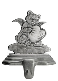 Bear Angel with Heart- Stocking or Basket Holder