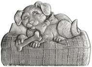 Puppy on Pillow - Pin
