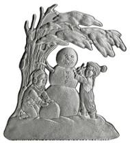 Snowman and Children - Pin
