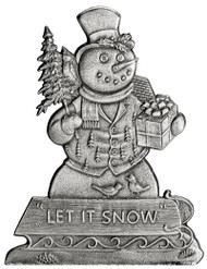Snowman and Sled - Pin