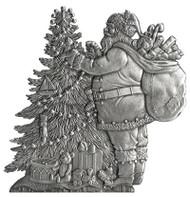 Santa and Tree - Pin