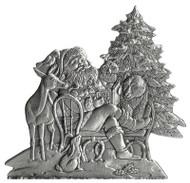 Santa with Woodland Animals - Pin
