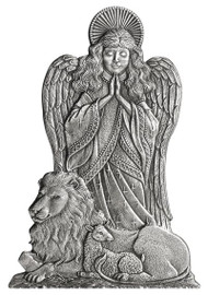 Angel with Lion and Lamb - Pin