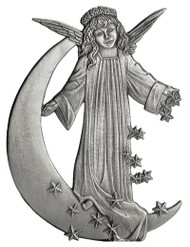 Angel on Moon with Stars - Pin