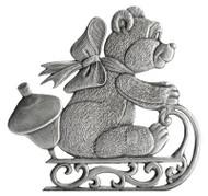 Teddybear on Sled - Pin