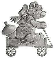 Teddy Bear in Wagon - Pin