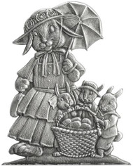 Mom Bunny with Three Children - Pin