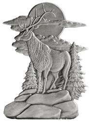 Elk on Bluff - Pin