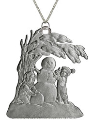 Snowman with Children - Pendant