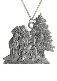 Santa with Woodland Animals - Pendant