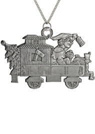 Elf in Train Caboose - Pendant