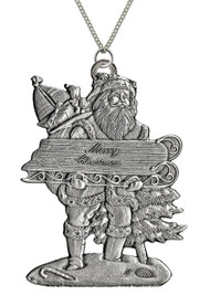 Santa Holding Sled - Pendant