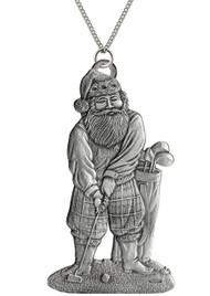 Santa Golfing - Pendant
