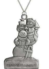 Santa with Snowman - Pendant