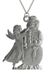 Angel with snowman - Pendant