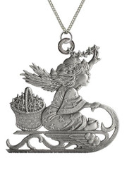 Angel with Stars on Sled - Pendant