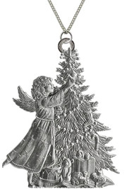 Angel with Christmas Tree - Pendant
