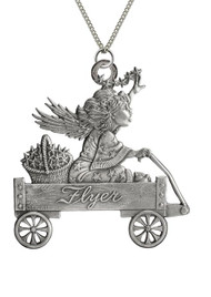 Angel with Stars in Wagon - Pendant