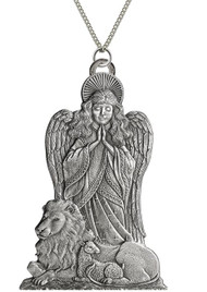 Angel with Lamb and Lion - Pendant