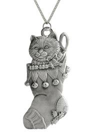 Stocking with Kitten - Pendant