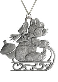 Teddy Bear on Sled - Pendant