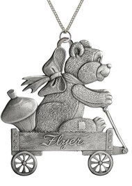Teddy Bear in Wagon - Pendant
