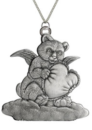 Bear Angel with Heart - Pendant