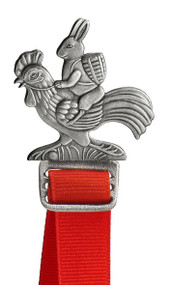 Bunny on Rooster- Bookmark