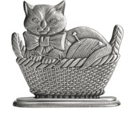 Kitten in Basket - Paperweight or Figurine