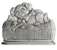 Puppy on Pillow - Paperweight or Figurine