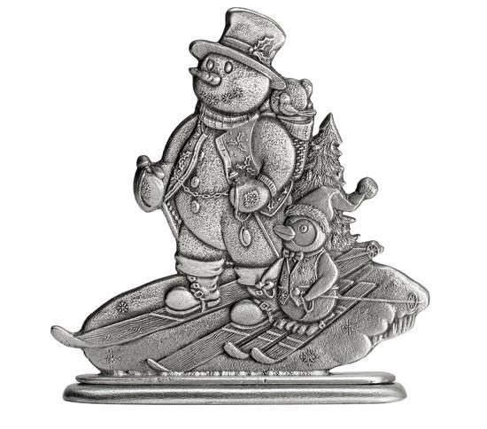 Snowman Pewter Figurine