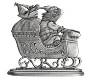 Santa with Sleigh - Paperweight or Figurine
