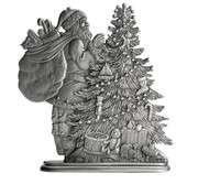 Santa with Christmas Tree - Paperweight or Figurine