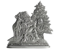 Santa with Woodland Animals - Paperweight or Figurine
