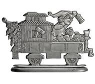 Elf in Train Caboose - Paperweight or Figurine