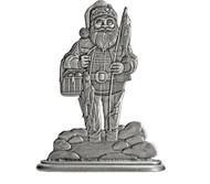 Santa Fishing - Paperweight or Figurine