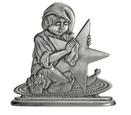 Elf Polishing Star - Paperweight or Figurine
