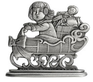 Girl on Sled - Paperweight or Figurine