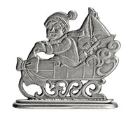 Boy on Sled - Paperweight or Figurine
