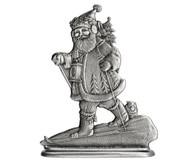 Santa Skiing - Paperweight or Figurine