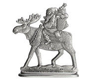 Santa on Moose - Paperweight and Figurine