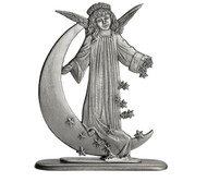 Angel on Moon with Stars - Paperweight or Figurine