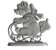 Teddy Bear on Sled - Paperweight or Figurine