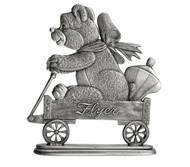 Teddy Bear in Wagon - Paperweight or Figurine