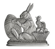 Bunny Painting Egg - Paperweight or Figurine