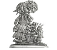 Mom Bunny with three Bunnies - Paperweight or Figurine