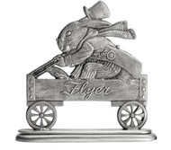 Mr. Bunny in Wagon - Paperweight or Figurine
