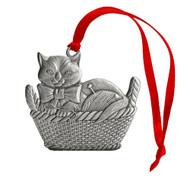 Kitten in Basket - Ornament